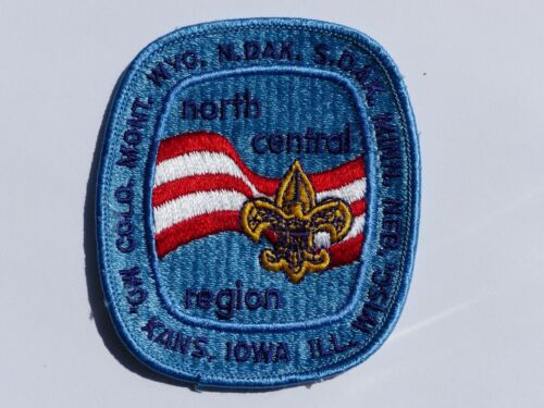 Used Vintage North Central Region Boy Scout BSA Embroidered Patch