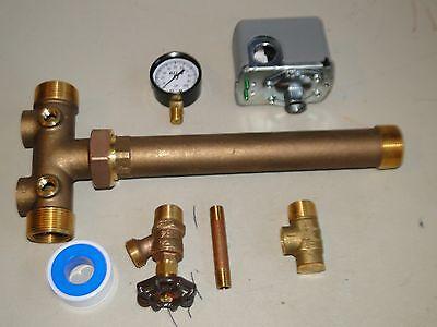 "NO LEAD 1"" x 11"" TANK TEE KIT+ UNION Water Well Pump Pressure Tank SQUARE D 4060"