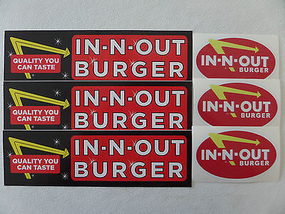 "IN-N-OUT BURGER /""NEON/"" STICKERS BUMPER STICKERS /""OVAL/"" DISCONTINUED"