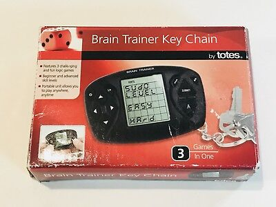 Brain Trainer Key Chain 3 Games In One Sudoku Simon Says Shooting Game New Box