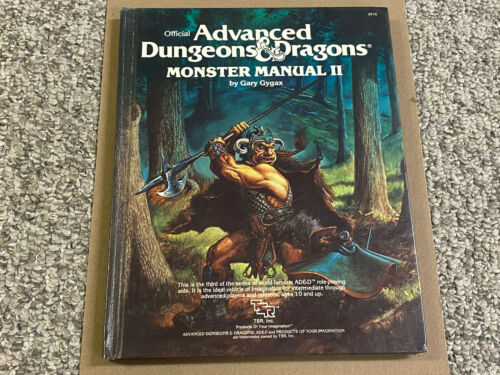 Monster Manual II - AD&D TSR 1983 #2016 Hardcover