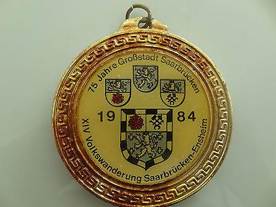 Orden Volks-Wanderung Saarbrücken Ensheim 1984 Medaille Taler Münze Wappen 75 J.