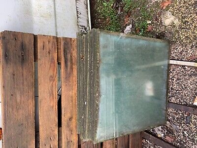 Greenhouse glass 610mm x 610mm used x 10 sheets