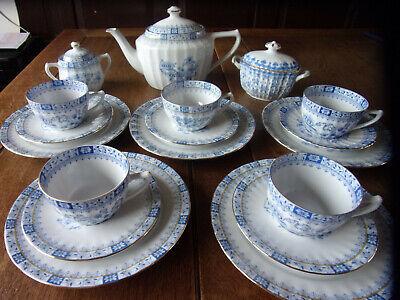 Seltmann Weiden China Blau Set Tasse// Untertasse Kuchenteller Porzellan