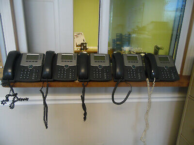 Cisco Ip Phones Spa504g 4 Line Phone With Display Lot Of 5