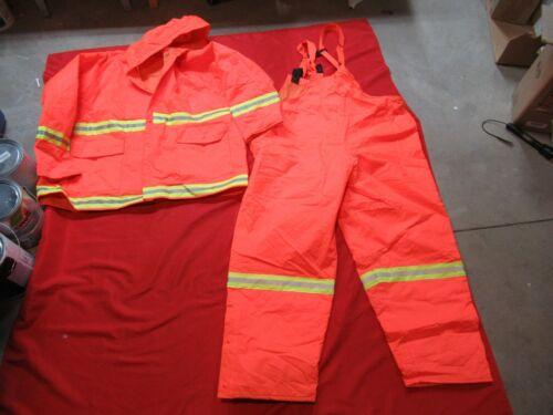 Mifflin Reflective Apparel Jacket & bibs LINERS 2XL FIRE Police Safety Rain Gear