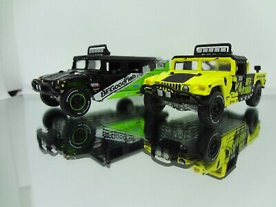 JL Hummer H1 Off Road & Hummer H1 Race Truck Limited Ed - Loose New Mint 1:64 for sale  USA