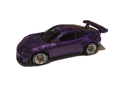 Hot Wheels 1:64 LOOSE Porsche 911 GT3 RS PURPLE Custom  w/Real Riders