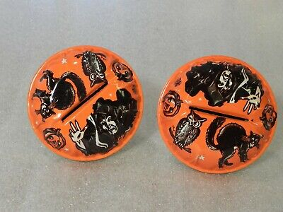 Vintage Halloween - Orange Noise Maker  - US Metal Toy Mfg Co