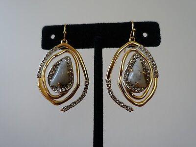 Alexis Bittar Drop Earrings (ALEXIS BITTAR CRYSTAL ENCRUSTED SPIRAL DROP EARRING. NEW )