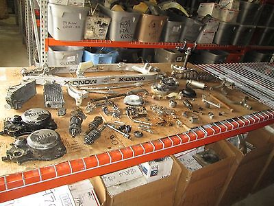 83 Yamaha YZ125 Ignition Coil Assembly Mono X Swingarm Radiator Clutch Cover Lot
