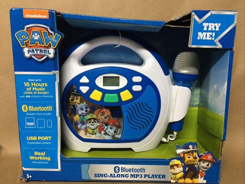 KIDdesigns - PAW Patrol Bluetooth Sing Along MP3 Player - Blue