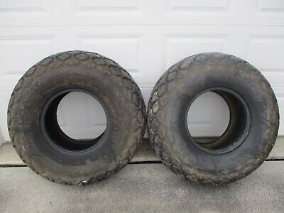 2 - Goodyear Rear Turf Tires 13.6 16 Off Lo Boy 154 184 185 International Ih