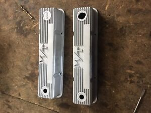 Holley SBC aluminum finned valve covers brand new
