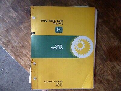 John Deere 4050 4250 4450 Tractor Parts Catalog Manual Book Original Pc-1901