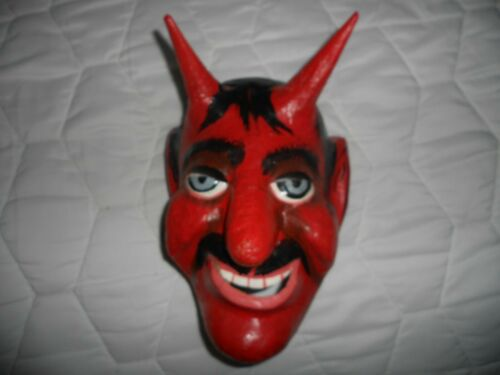 Devil Mask vintage paper mache Mexican Street Dance
