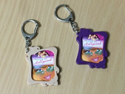 Set Of 2 Photo Keychains For Girls From Barbie Doll My Scene Goes Hollywood Rare