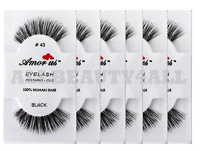 dec9f8f4846 AmorUs 100% Human Hair False Eyelashes #43 (pack of 6 Pairs) compare