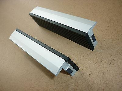 Schraubstock Schutzbacken 125mm Alu/Gummi Schonbacken mit Magnet Spann-Backen