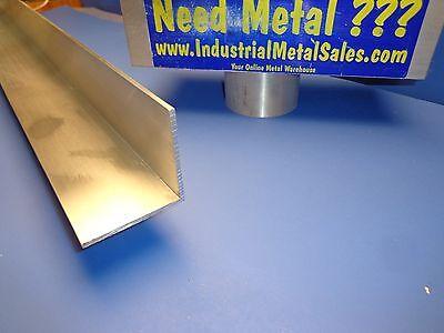 2-12 X 2-12 X 24 Long X 18 Thick 6063 T52 Aluminum Angle-2.5 Angle
