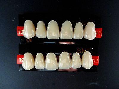 2pcs False Denture Upper Anterior A2-t9 Acrylic Teeth Synthetic Resin