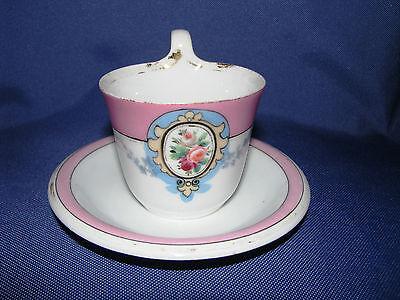 Biedermeier Tasse mit Unterteller, Bing & Grondahl, Sammlerstück