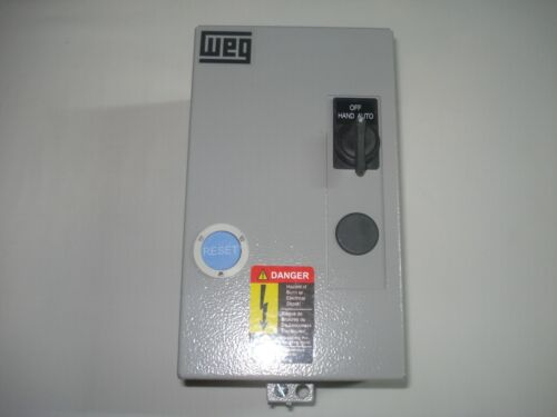 WEG 7.5 & 10HP 3 Phase Magnetic Starter Electric Motor Control NEMA 1 460-575V