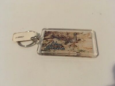 New Mexico Two Sided Plastic Keychain with Road Runner NEW