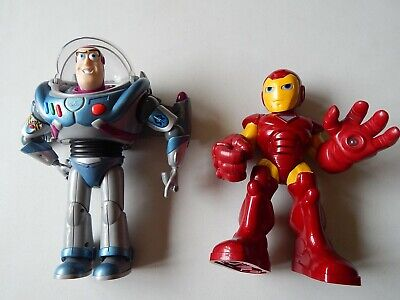 Used, Iron Man & Buzz Lightyear Talking with Lights & Sounds Action Figure Lot for sale  Shipping to India