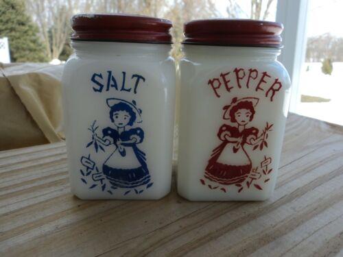 GARDEN GIRL DECORATED SALT & PEPPER SHAKER SET