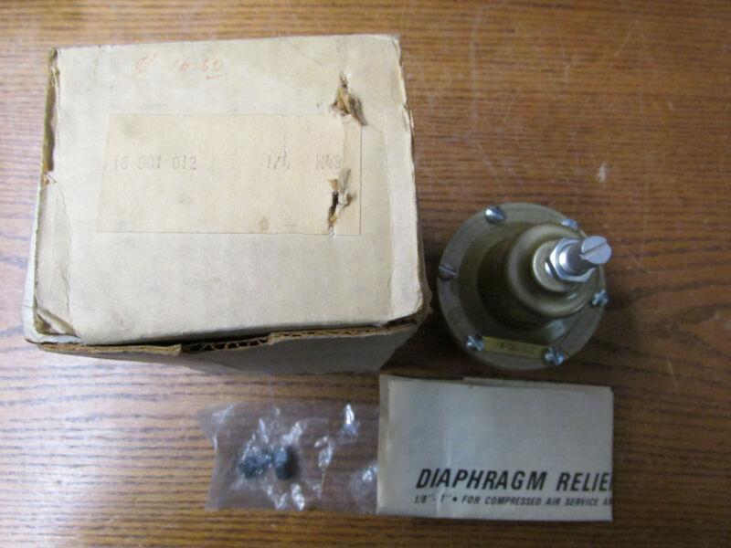 """NORGREN 16-001-034 1//2/"""" NPT SAFETY RELIEF DIAPHRAGM VALVE"""