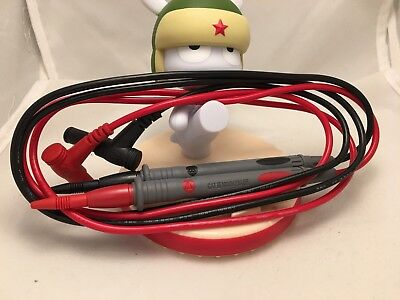20a Premium Dmm Test Lead Set For Digital Multi Meter Probes 1000v Sharp Needle