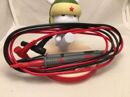 20A PREMIUM DMM TEST LEAD SET FOR DIGITAL MULTI METER PROBES 1000V SHARP NEEDLE