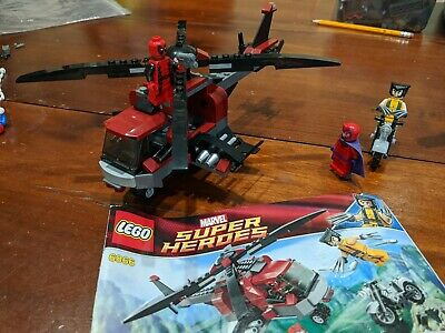 LEGO Marvel 6866 Wolverine's Chopper Showdown Used 100% Complete deadpool x-men
