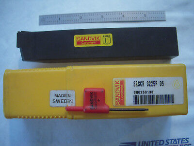 New Sandvik Coromant T-max U Srscr 3225p 05 Lathe Carbide Insert Holder