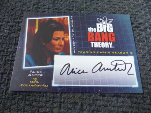 THE BIG BANG THEORY Trading Cards Season 5 signed Autogramm ALICE AMTER