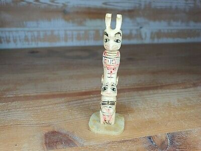 Old Unusual Miniature Bovine Bone Totum Pole