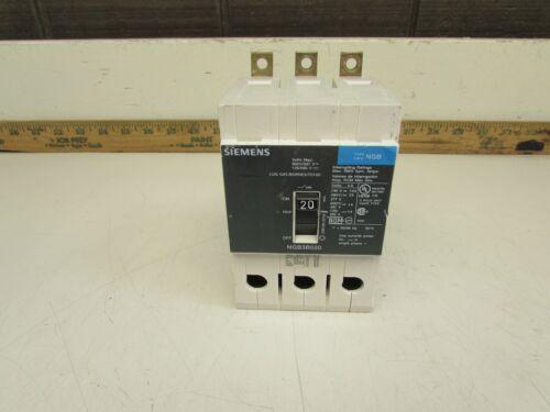 SIEMENS NGB3B020 CIRCUIT BREAKER ,  3P - 20AMP / 600V  GOOD TAKEOUT! MAKE OFFER!