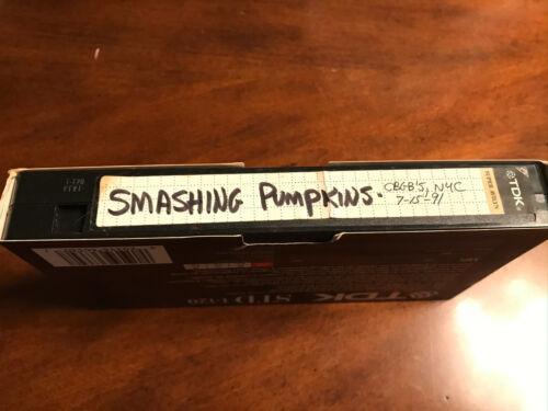 The Smashing Pumpkins VHS Concert Video Taped Live CBGB
