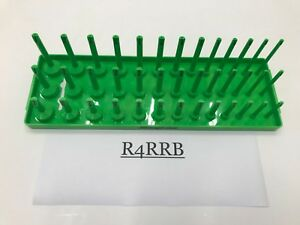 NEWEST Snap-on Tools USA GREEN 3 Row SAE Master 39 Socket Holder Tray KA383FRGN