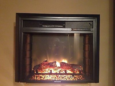 """RV ELECTRIC FIREPLACE 26"""" WITH REMOTE AND RADIUS FRONT"""
