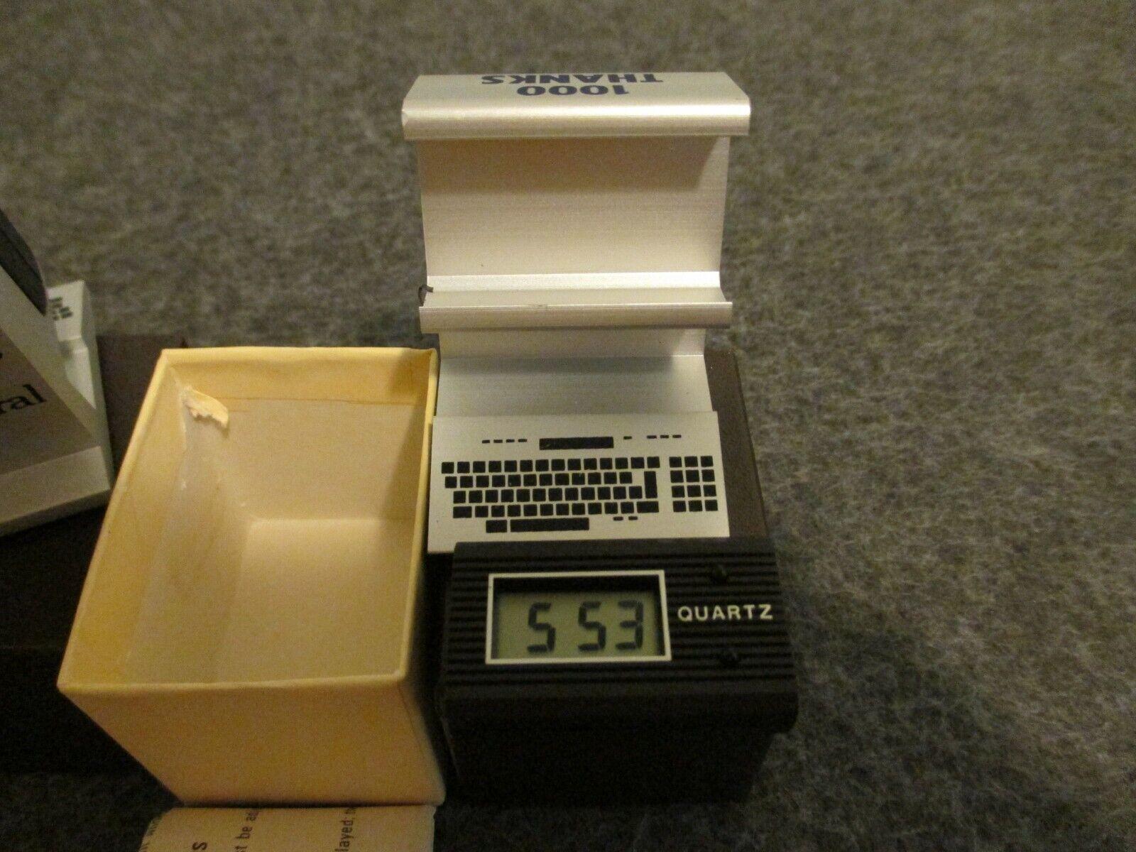  1980's NOS (2) QUARTZ PROMO COMPUTER CLOCK / DESK…