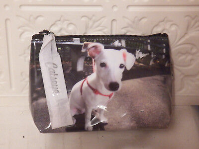 Catseye Cosmetic Makeup Bag, Dog , Small