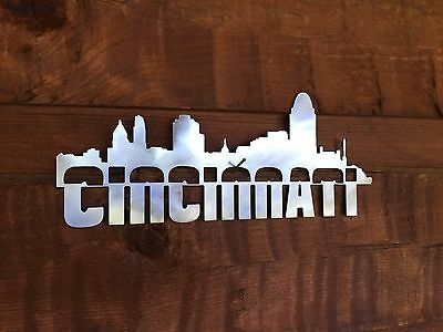 cincinnati skyline cincy metal sign wall art home decor outdoor patio garden