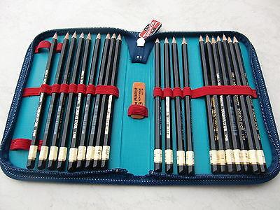 20 KOH-I-NOOR 1900 Graphitstifte Bleistifte  8B-10H Etui