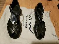 Tanzschuhe (zehenoffene Sandalette), Leder, schwarz Nordrhein-Westfalen - Kempen Vorschau