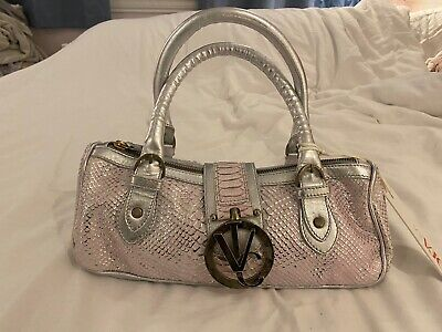 VERSACE JEANS COUTURE pink/silver metallic Handbag- Brand New With Tags