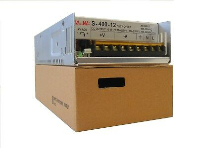 400 Watt 9 - 15 Dc Volts Adjustable 36 Amp Power Supply 40a Real Megawatt 12 V