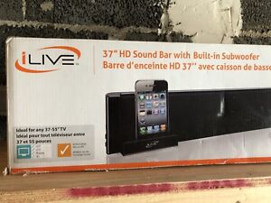 """37"""" iLive sound bar with built in subwoofer"""