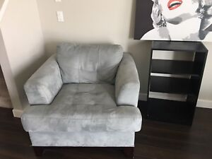 Designer Microsuede Leather Sofa and Chair